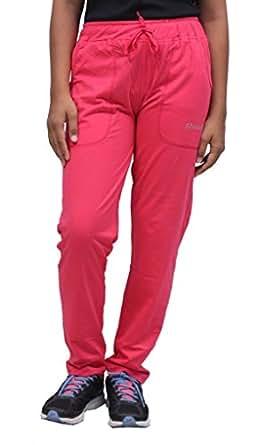 Romano Women Pink Cotton Track Pant (romwomflori402pinktrack_m, Medium, Pink)