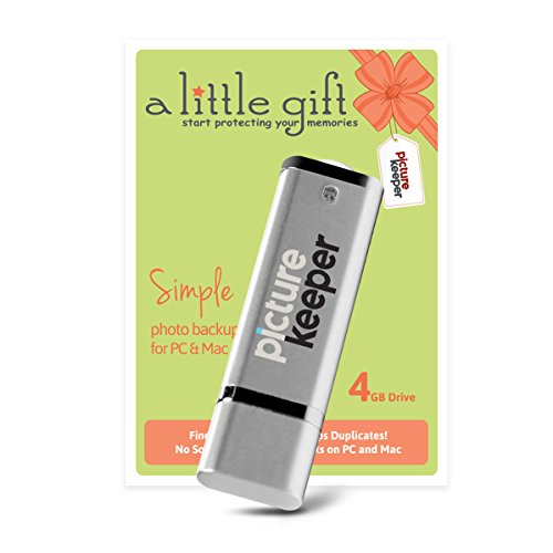 Picture Keeper Little Gift - 4GB Starter Automatic Backup Device for Backing up your Photos on your PC or MAC Computer (1-Pack)