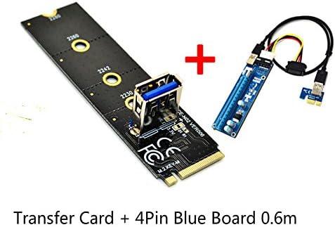 NGFF M.2 to PCI-E X16 Slot Transfer Card USB Port Adapter Mining Pcie Riser Card