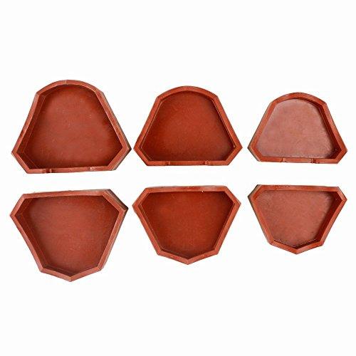 6pcs Dental Lab Silicone Plaster Model Former Base Molds Mould S+M+L Size Tray (Cast Former Dental Base)