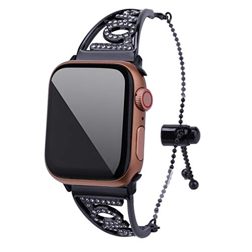 Price comparison product image Celendi Best Gift for Mother's Day Luxury Crystal Love Symbol Strap Replacement for Apple Watch Band 4321 42mm / 44mm