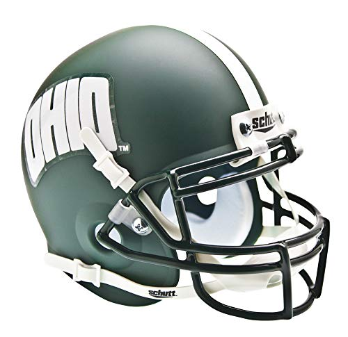 Ohio Mini Helmet - Schutt NCAA Ohio Bobcats Mini Authentic XP Football Helmet, Alt. 1