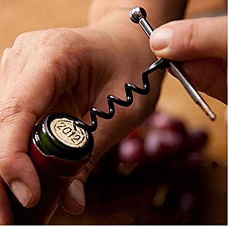 Zonster 1pcs Mini Multifuncional Aire Libre del Acero Inoxidable del Vino del Sacacorchos Abrebotellas con Anillo Llavero Abrebotellas