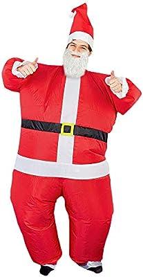 The Twiddlers Disfráz de Papa Noel - Santa Claus Inflable Costume (Adulto) Fiestas de Navidad y Disfraces - Divertido y Gracioso Accesorio de Navidad