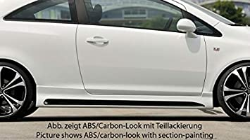 Rieger Potenciador de Lado Negro Mate para Opel Corsa D: 07.06 – 12.10 (hasta