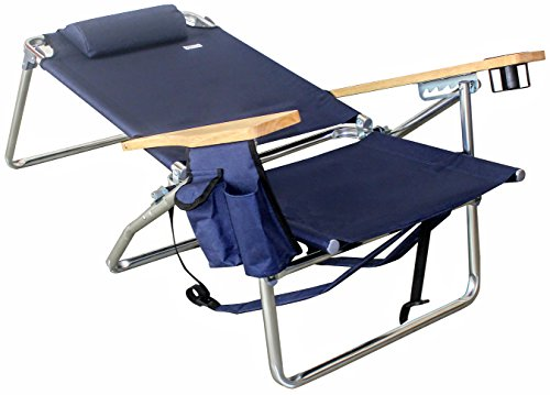 e71dc8f833 VALLF Premium Deluxe & High-End Beach Chair Lightweight Aluminum Lay-Flat  Pillow Backpack Oversized with Phone Pouch and Drink Holder (Assorted ...