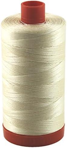 goldish cream Aurifil #2310 28 weight thread.