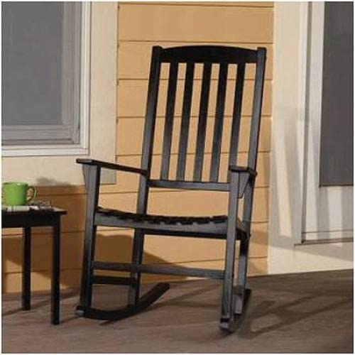 Mainstays Outdoor Rocking Chair, Black