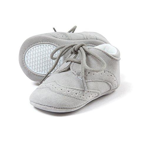 Soft Walker Shoes - Sabe First Walkers - Unisex Baby Boys Girls Moccasins Soft Sole Tassels Prewalker Anti-Slip Loafer Shoes (12-18 Months, C-Grey)