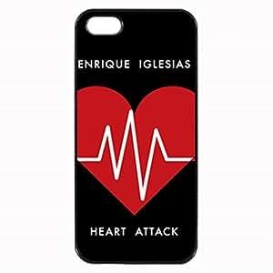 Enrique Iglesias Logo Heart Attack Custom Diy Unique Image Durable Rubber Silicone Case for Iphone 5 5S Case