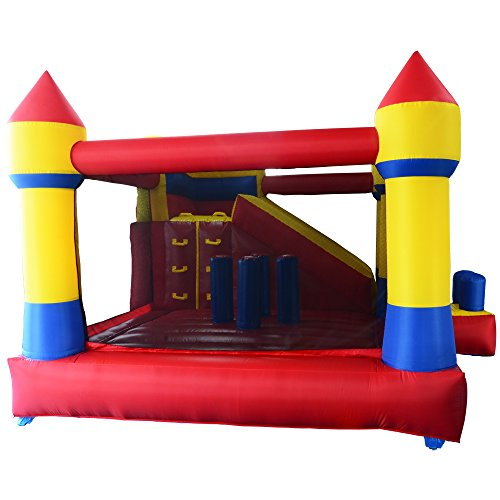 YARD Bounce House with Slide Obstacle Children Outdoor Jump Castle with Blower (13.1' x 12.5' x 8.2') by YARD (Image #7)