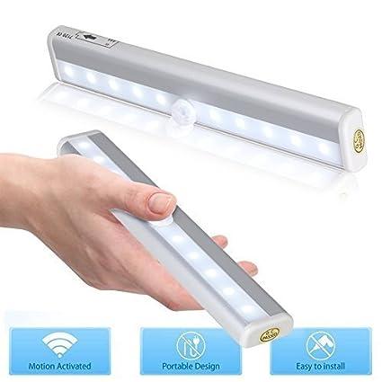 2 Piezas Barra de Luz LED con Sensor de Movimiento para Closet Gabinete Armario Cajón Armario