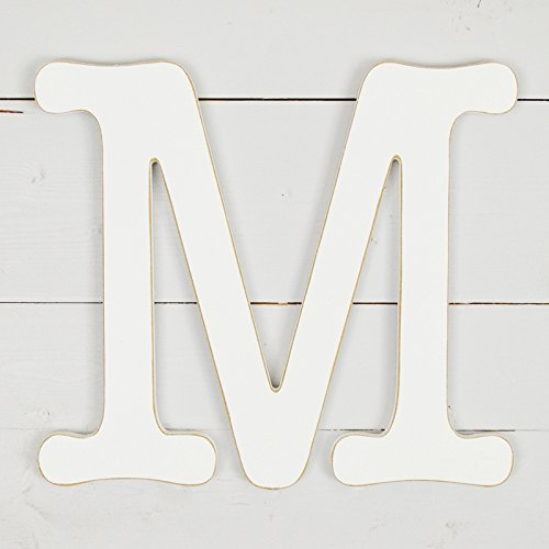 11.5'' Typewriter Wall Decor Letter ''M''- White by UNFINISHEDWOODCO