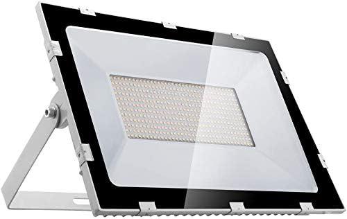 Viugreum 10 Pack 300W LED Flood Lights Outdoor, Slim Design 30000LM IP65 Waterproof Super Bright Security Lights, Daylight White 6500K Stadium Lights for Garden, Garage, Factory, Warehouse