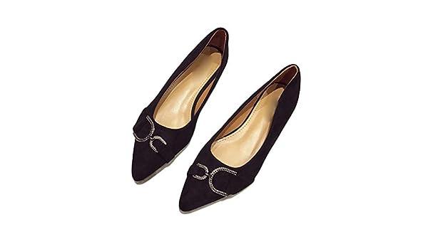 d5960bd622aff Amazon.com: August Jim Women's Office Flats Shoes,Classic Pointy Toe ...