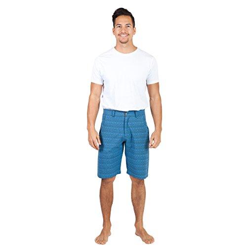 Men's Slim Fit Summer Love Shorts-Blue-XLarge by Lakhays