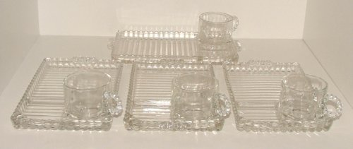 Federal Glass Snack (Vintage Boopie Pattern Snack Set)