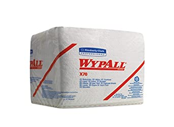 Wypall X70 Reusable Wipes (41200) with Soft / Absorbent Hydroknit, Quarterfold Format Box, 12 Packs / Case, 76 Wipers / Pack
