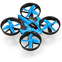 Dayan Anser Mini Pocket Drone Headless Mode Mini UFO with LED Lights RTF Remote Control Quadcopter (Blue)