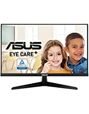 """$107 » ASUS VY249HE 23.8"""" Eye Care Monitor, 1080P Full HD, 75Hz, IPS, Adaptive-Sync/FreeSync, Eye Care Plus, Color Augmentation, Rest Reminder, Antibacterial Surface, HDMI VGA, Frameless, VESA Wall Mountable"""