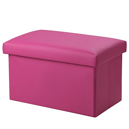 Inoutdoorkit FSL01 Foldable Leather Storage Ottoman Bench Footrest