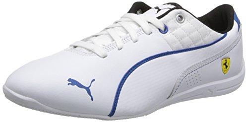 PUMA Men's Drift Cat 6 Ferrari Shoe,White/Classic Blue,11 M US