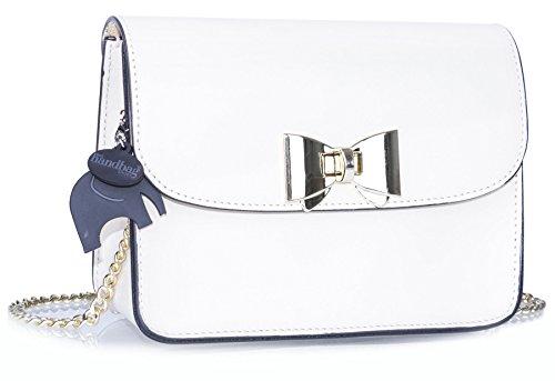 Big Handbag Shop - Bolso bandolera mujer blanco