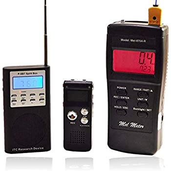 Ghost Hunting Kit - MEL-8704R EMF Meter - EVP Recorder & Spirit Box