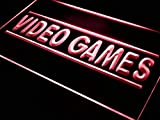 ADVPRO Video Games Shop Beer Bar Pub LED Neon Sign Red 16'' x 12'' st4s43-j273-r