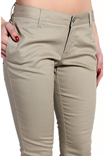 Cool Off Dickies Pants  Dickies Girl KHAKI Classic 5Pocket Skinny Pant