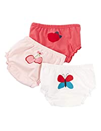 AYIYO Baby Girls Boys Owl Printed Underwear Cotton Training Shorts Bloomers Pack of 3