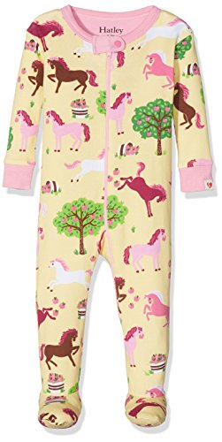 Hatley Baby Girls' Organic Cotton Footed