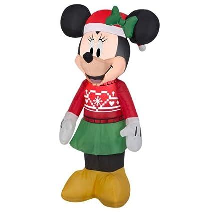 Amazon.com: Airblown Minnie en Ugly Sweater: Jardín y Exteriores