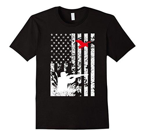 Duck Black T-shirt (Men's Duck Hunting Flag T shirt 3XL Black)
