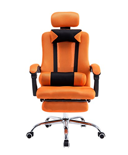 Baymate Gaming Computer Ergonomic Racing Chair Reclining Game Office Chairs With Footrest Orange Most Popular