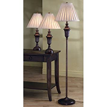 Coaster Traditional 3 Piece Lamp Set