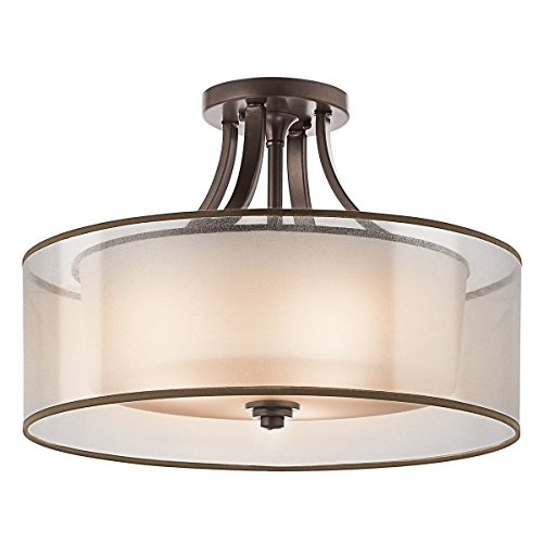 ey 4-Light Semi-Flush in Mission Bronze (Mission Bronze Ceiling Fixture)