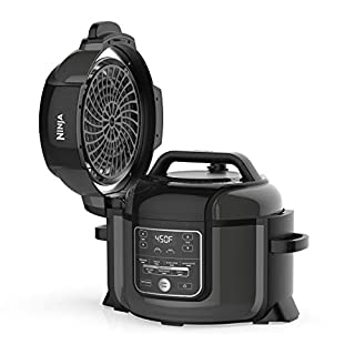 Ninja Foodi 9-in-1 Pressure, Broil, Dehydrate, Slow Cooker, Air Fryer, and More, with 6.5 Quart Capacity and 45 Recipe Book, and a High Gloss Finish