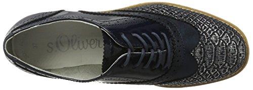 s.Oliver 23616, Zapatos de Vestir para Mujer Azul (NAVY COMB. 891)