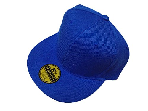 Baseball Caps Adjustable Flat Edge - OKEER Unisex Pure Color Simple Hip-Hop Style Snapback Sport Hats(Blue)