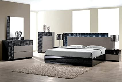 Amazon Modern Romania 48 Piece Bedroom Set Eastern King Size Bed Enchanting Modern Bedrooms Furniture Exterior