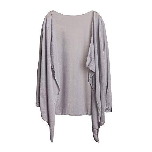 Gris Sun Lâche Modale Mode Et Cardigan Mince De Protection D'hiver Manteau Honestyi Hauts Long Femmes Vêtements Femme 7aPq61Hw
