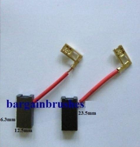 CARBON BRUSHES TO FIT ANGLE GRINDER DEWALT DW490 DW491 DW 490 940160 6.3X12.5X23.5-D59