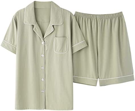 夏のパジャマメンズ半袖モーダルボタンカーディガンカジュアルな快適な夏の家の摩耗
