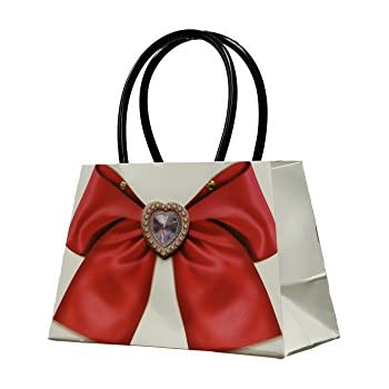 651f1ef19b747 Women s Paper Gift Bags Small Kraft Purse with Handles for Birthday Holiday  Wedding (Pack of 12)
