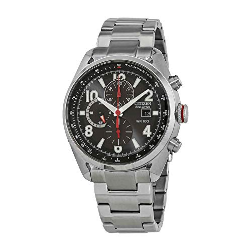 Citizen Mens Black Dial Watch - Citizen Eco-Drive Black Dial Stainless Steel Men's Watch CA0368-56E