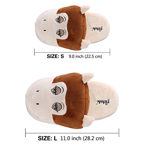 Shoes House Monkey Slipper Winter Comfort Bedroom Indoor Aerusi Adult Plush Cute Kid Animal PqARwZ