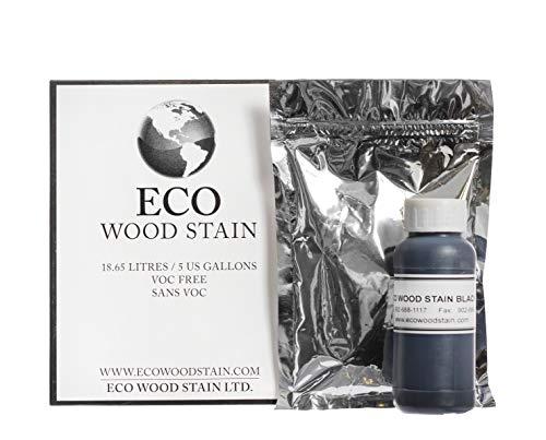 Eco Wood Treatment 5 US Gallon, Long Lasting, Black, Semi-Transparent (1 Pack)