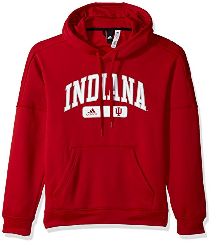 adidas NCAA Indiana Hoosiers Mens Arched Heat Team Issue Fleece Pullover Hoodarched Heat Team Issue Fleece Pullover Hood, Victory Red, Medium