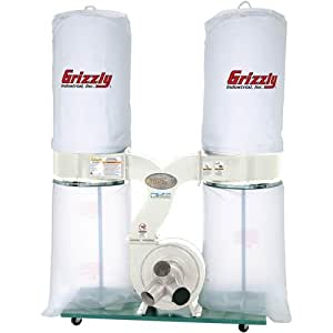 Grizzly G1030Z2P 3 HP Dust Collector with Aluminum Impeller - Polar Bear Series